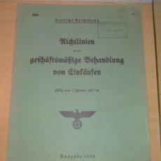 Militaria: PUBLICACION ALEMANA EPOCA III REICH, AÑO 1938. Lote 235516845