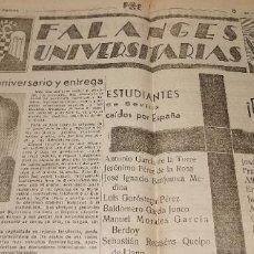 Militaria: FALANGES UNIVERSITARIAS(GUERRA CIVIL) ESTUDIANTES DE SEVILLA CAIDOS POR ESPAÑA Y MAS VER FOTOS. Lote 236238860