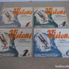 Militaria: LOTE 4 REVISTA VISIONS DE GUERRA CIVIL I RERAGUARDA, 1,2,4,6 SERIE B, 1937, REPIUBLICANOS.. Lote 236269785