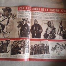 Militaria: REVISTA 1943.CON LOS HÉROES DE LA DIVISIÓN AZUL CIUDAD UNIVERSITARIA .ESPIONAJE RADIOFÓNICO. FRANCIA. Lote 237292425