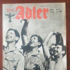 "Militaria: REVISTA ""DER ADLER"" NÚMERO 19, BERLIN 21/9/1943. Lote 238018830"