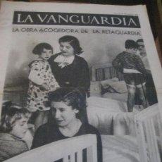 Militaria: LA VANGUARDIA . 4 PAGINAS . 1936 . GUERRA CIVIL . RETAGUARDIA . FRENTE DE MADRID. Lote 238709145