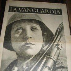 Militaria: LA VANGUARDIA . 4 PAGINAS . 1936 . GUERRA CIVIL . MILICIANA . FRENTE DE ARAGON. Lote 238710920