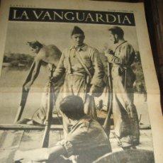 Militaria: LA VANGUARDIA . 4 PAGINAS . 1936 . GUERRA CIVIL . FRENTE ARAGON . MITIN INTELECTUALES ANTIFASCISTAS. Lote 238837705