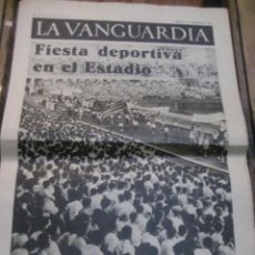 Militaria: LA VANGUARDIA . 4 PAGINAS 1936 . GUERRA CIVIL FIESTA DEPORTIVA . LICEO PAU CASALS. Lote 238858005