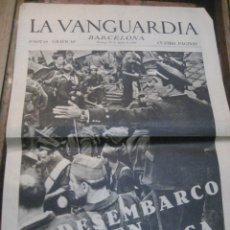Militaria: LA VANGUARDIA . 4 PAGINAS 1936 . GUERRA CIVIL . DESEMBARCO MILICIAS EN MALLORCA. Lote 238858245