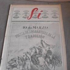 Militaria: SUPLEMENTO SEMANAL DE ARRIBA SI N°10 . 8 MARZO 1942 . 10 DE MARZO . LOS MARTIRES DE LA TRADICIÓN. Lote 241672740
