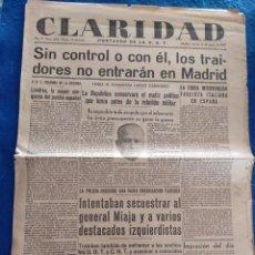 Militaria: PERIODICO CLARIDAD.- PORTAVOZ DE LA UGT. Nº 304.- 12 MARZO 1937.- ORIGINAL.. Lote 241938505