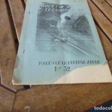 Militaria: REVISTA BOLETIN DE SEGURIDAD EN VUELO MANDO DE LA DEFENSA AEREA Nº 32 AÑO 1966. Lote 241969120