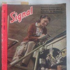 Militaria: REVISTA SIGNAL EDICION ESPAŃOLA MAS SUPLEMENTO INTERIOR NUMERO 7 1944. Lote 242263255