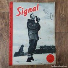 Militaria: REVISTA SIGNAL N° 3 DE 1940 - MUY RARA - SIGNAL MAGAZINE. Lote 246449980