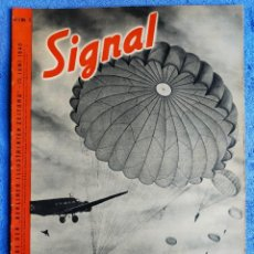 Militaria: SIGNAL. Nº5 DE 1940. EDICIÓN ALEMÁN/ITALIANO. FALLSCHIRMJÄGER, SUBMARINOS, REPORTEROS DE GUERRA. Lote 247526685