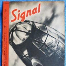 Militaria: SIGNAL. Nº 10 DE 1940. EDICIÓN ALEMÁN/ITALIANO. LUFTWAFFE. FALLSCHIRMJÄGER. HANS LISKA. Lote 247778970