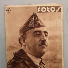 Militaria: SEMANARIO GRAFICO NACIONALSINDICALISTA FOTOS Nº65 1938 FRANCO EN LA GUERRA. Lote 253112910