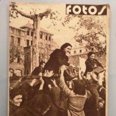 Militaria: SEMANARIO GRAFICO NACIONALSINDICALISTA FOTOS PAN ESPAÑA TARRAGONA Nº100 1939. Lote 253113270