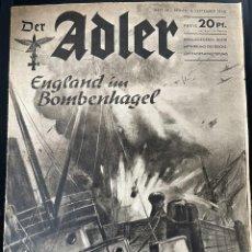 Militaria: DER ADLER 18 FROM 1940, GERMAN LANGUAGE ISSUE, LUFTWAFFE MAGAZINE. Lote 254186260