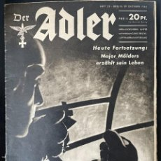 Militaria: DER ADLER 22 FROM 1940, GERMAN LANGUAGE ISSUE, MOLDERS. Lote 254187000
