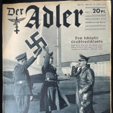 Militaria: DER ADLER 8 FROM 1940, GERMAN LANGUAGE ISSUE, HILTER. Lote 254187270