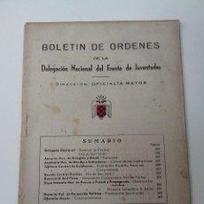 Militaria: BOLETIN DE ORDENES FRENTE DE JUVENTUDES Nº 228 AÑO 1949. Lote 262140930