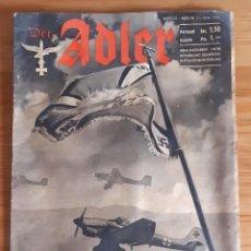 Militaria: REVISTA. DER ADLER. Nº 12 / BERLIN 17 JUNI 1941. Lote 262237750