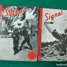 Militaria: TOMOS REVISTA SIGNAL Nº 1 Y 2. ABRIL 1940 Y JULIO 1941 .FASCIMILES EDICIONES EL ARQUERO.. Lote 262361530