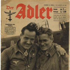 Militaria: DER ADLER. 16. AGOSTO 1942. EN CASTELLANO. Lote 262394025