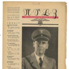 Militaria: PERIÓDICO NSBZ. NATIONALSOZIALISTISCH BEAMTEN ZEITUNG. Nº6. MARZO 1937. Lote 262408305