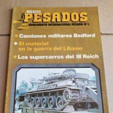 Militaria: REVISTA MEDIOS PESADOS N° 3 , JULIO-SEPTIEMBRE 1981. Lote 263127005