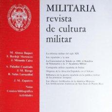 Militaria: MILITARIA: REVISTA DE CULTURA MILITAR, NÚM. 1 (1989) / MADRID: AMIGOS DE LOS MUSEOS MILITARES, 1989.. Lote 263185280