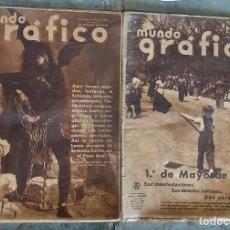 Militaria: 2 REVISTAS MUNDO GRAFICO, 8 DE ABRIL DE 1936 Y 6 DE MAYO DE 1936. Lote 31170070