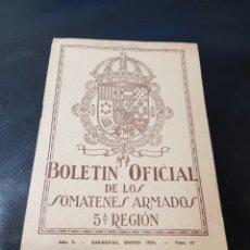 Militaria: BOLETÍN SOMATENES 5 REGIÓN CASTELLÓN TORRECHIVA FANZARA LUDIENTE PUEBLA-TORNESA MOYUELA ZARAGOZA. Lote 267172309