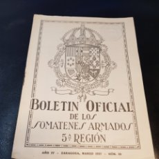 Militaria: BOLETÍN SOMATENES ARMADOS 5 REGIÓN GUADALAJARA ESPINOSA DE HENARES BELMONTE DE MEZQUIN AÑO 1927. Lote 267173414