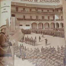 Militaria: LA DESPEDIDA DEL SOLDADO. EN EL CUARTEL DE LA MONTAÑA. PAGINA DE AÑO 1935.. Lote 267233314