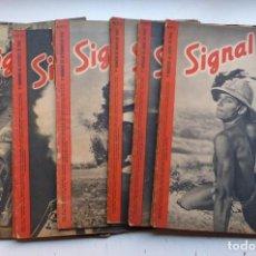 Militaria: SIGNAL - 15 REVISTAS - AÑOS 1940 - VER DESCRIPCION Y FOTOS. Lote 268419664