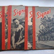 Militaria: SIGNAL - 12 REVISTAS - AÑOS 1940 - VER DESCRIPCION Y FOTOS. Lote 268420869