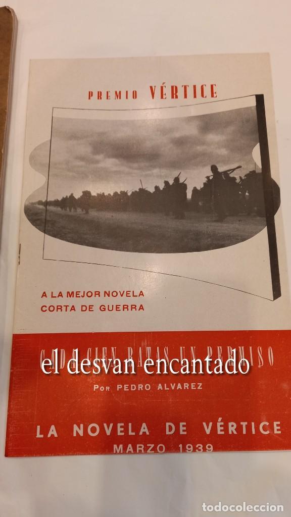 Militaria: Revista VERTICE. Falange Española. Año 1939. Incluye un encartable literario. VER FOTOS - Foto 3 - 272465418