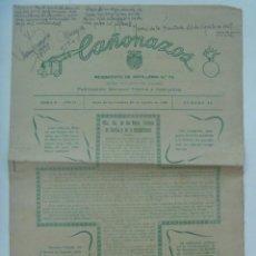 Militaria: CAÑONAZOS , PUBLICACION DEL REGIMIENTO DE ARTILLERIA Nº 74. JEREZ DE LA FRONTERA , AGOSTO 1948. Lote 276223108