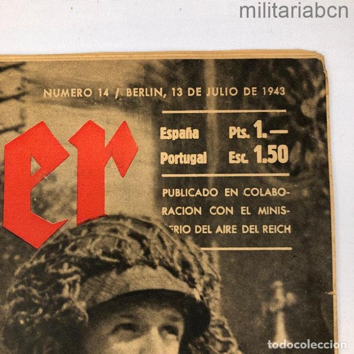 Militaria: Alemania III Reich. Revista Der Adler nº 14 del 13 de julio de 1943. - Foto 2 - 276911458