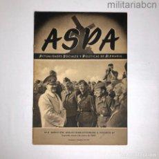 Militaria: ALEMANIA III REICH. REVISTA ASPA SEGUNDO NÚMERO DE ENERO DE 1943.. Lote 276911918