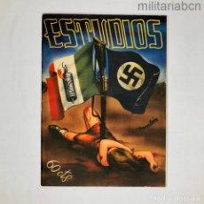 Militaria: REVISTA ANARQUISTA ESTUDIOS DE MARZO DE 1937. GUERRA CIVIL ESPAÑOLA. Lote 276915723