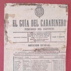 Militaria: HOJAS PERIODICO EL GUÍA DEL CARABINERO. 1890. W. Lote 277144018