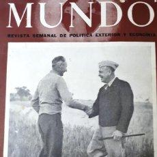 Militaria: MUNDO REVISTA SEMANAL DE POLITICA EXTERIOR Y ECONOMIA. AÑO V - Nº 262 - AÑO 1945. Lote 277599953