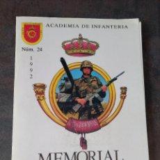 Militaria: MEMORIAL DE INFANTERÍA N°24 REGIMIENTO FLANDES. ARTILLERÍA. BROWNING. TRANSMISIONES. SANJURJO. Lote 277611248