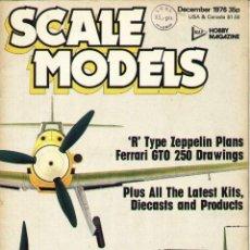Militaria: SCALE MODELS AÑO 1976 DICIEMBRE. Lote 278575448