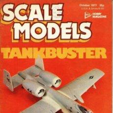 Militaria: SCALE MODELS AÑO 1977 OCTUBRE. Lote 278575998