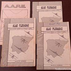 Militaria: LOTE 4 REVISTAS ALAS PLEGADAS LIGA ANTIGUOS AVIADORES DE LA REPÚBLICA ESPAÑOLA Y ASOCIACIÓN AVIADOR. Lote 287489553