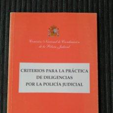 Militaria: PRÁCTICA DE DILIGENCIAS POR LA POLICIA JUDICIAL. MINISTERIO INTERIOR. NOVIEMBRE 2000. Lote 288011793