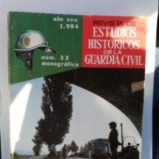 Militaria: REVISTA DE ESTUDIOS HISTÓRICOS DE LA GUARDIA CIVIL. N° 32. LA AGRUPACIÓN DE TRÁFICO. 1984. Lote 289847208