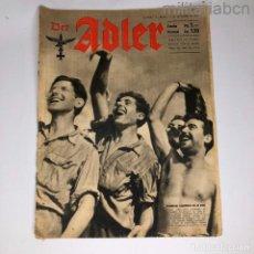 Militaria: ALEMANIA III REICH. REVISTA DER ADLER, PUBLICACIÓN DE LA LUFTWAFFE. Nº 19 SETIEMBRE 1943.. Lote 290053138