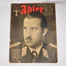 Militaria: ALEMANIA III REICH. REVISTA DER ADLER, PUBLICACIÓN DE LA LUFTWAFFE. Nº 26 DICIEMBRE 1942.. Lote 290053203